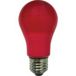 Ecola classic LED color 8,0W A55 220V E27 Red Красная 360° (композит) 108x55