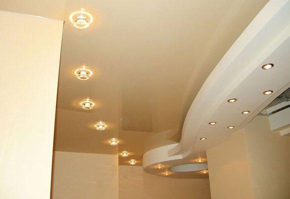 Светильники для натяжного пололка
