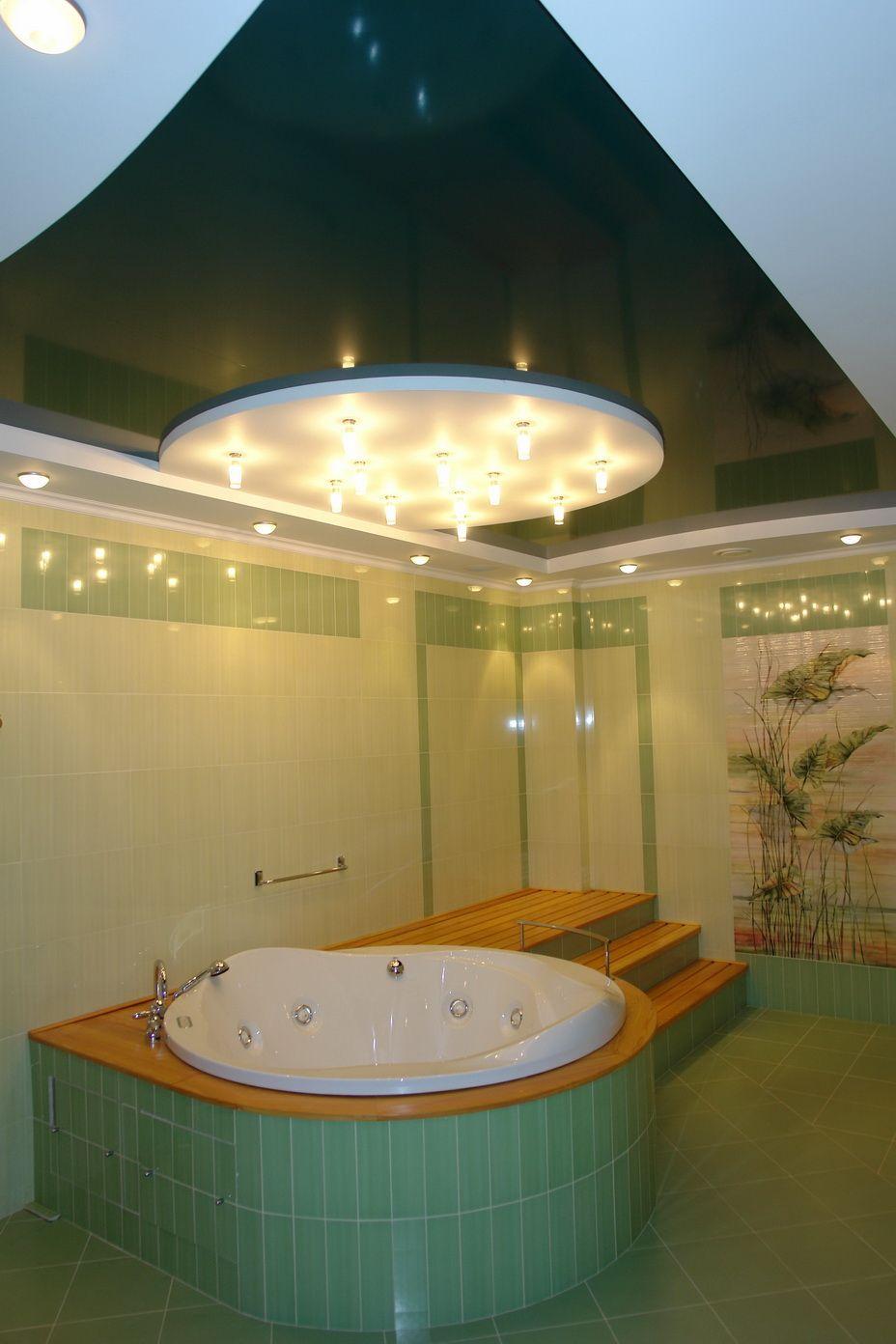 Сложный потолок над ванной, спайка