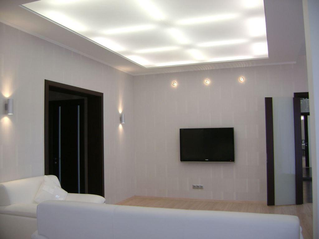 Светопрозрачный потолок с установкой светодиодной лунной подсветкой