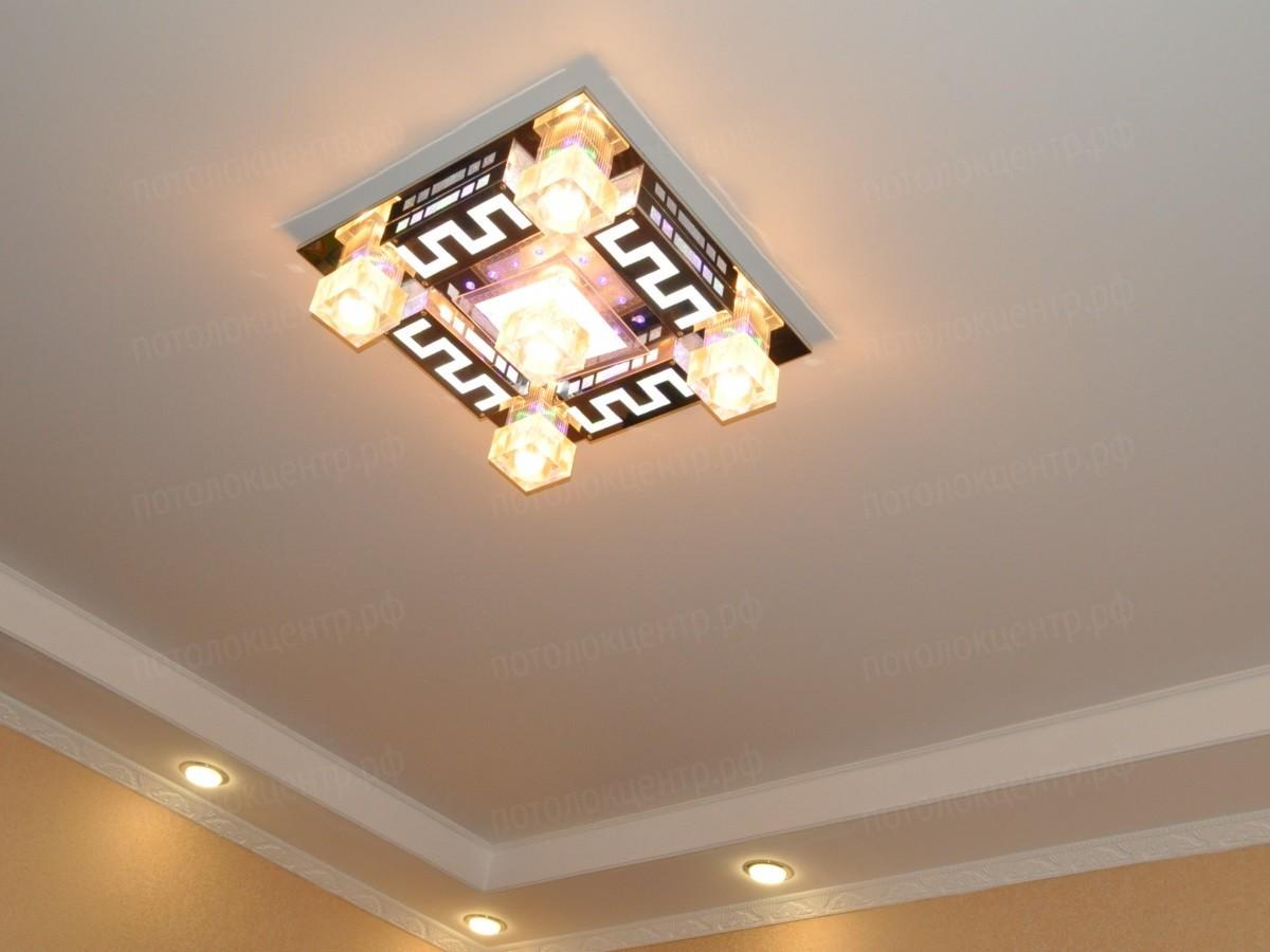 Тканевый потолок - как основа для двухуровневых конструкция