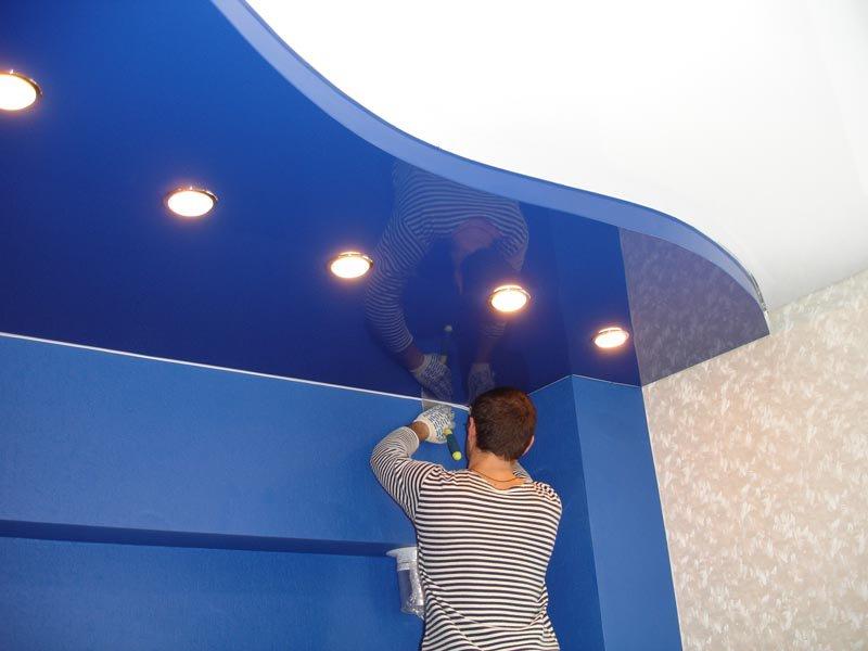 2.Установка светильников и заправка светильников и декоративной ленты
