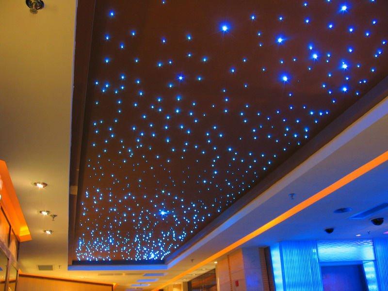 Многоуровневый натяжной потолок звездное небо