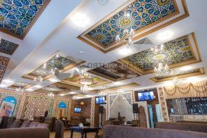 Натяжные потолки в ресторане