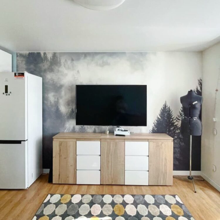 классический сатиновый потолок